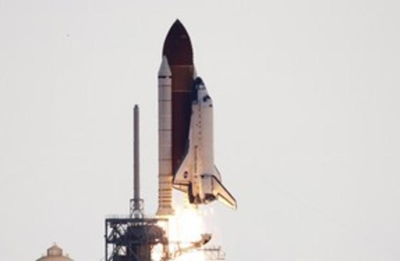 Endeavour shuttle blast off 311 R (photo credit: Reuters)