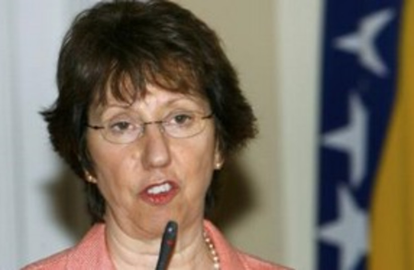 EU Foreign Policy Chief Catherine Ashton 311 (R) (photo credit: REUTERS/Danilo Krstanovic)