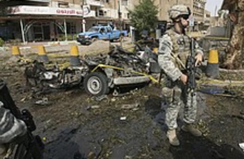 iraq bombing us soldier  (photo credit: AP)