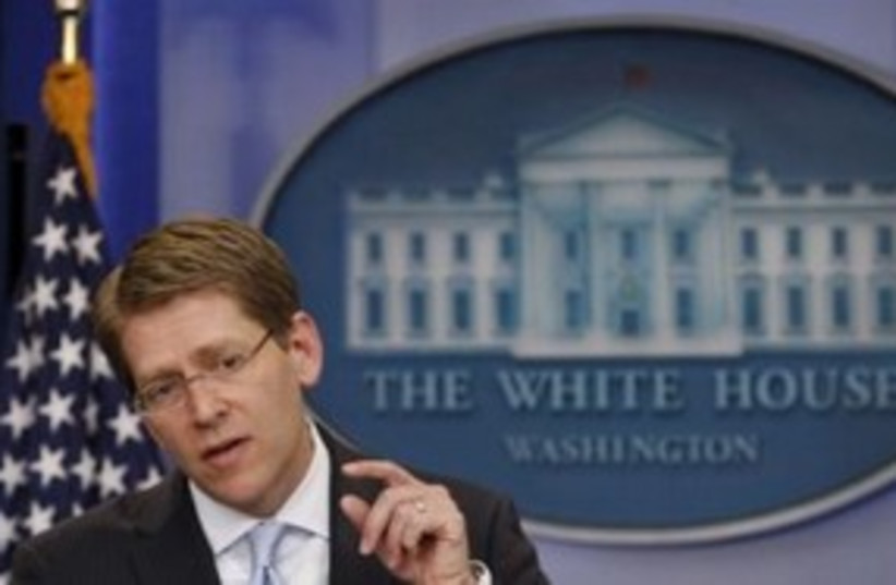 Jay Carney 311 (photo credit: REUTERS)