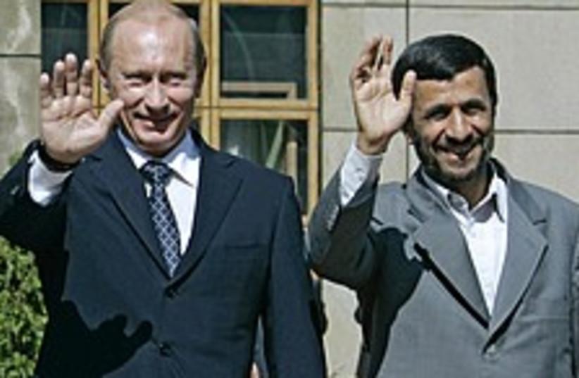 Putin ahmadinejad 224.88 (photo credit: AP [file])