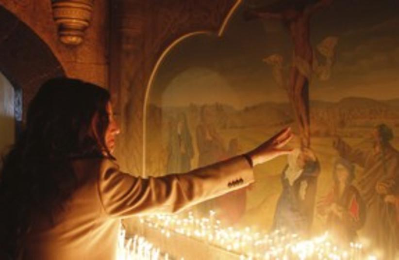 Syrian Christian_311 reuters (photo credit: Khaled Al Hariri / Reuters)
