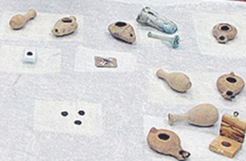 stolen artifacts_311 (photo credit: Courtesy of Eilat Customs)