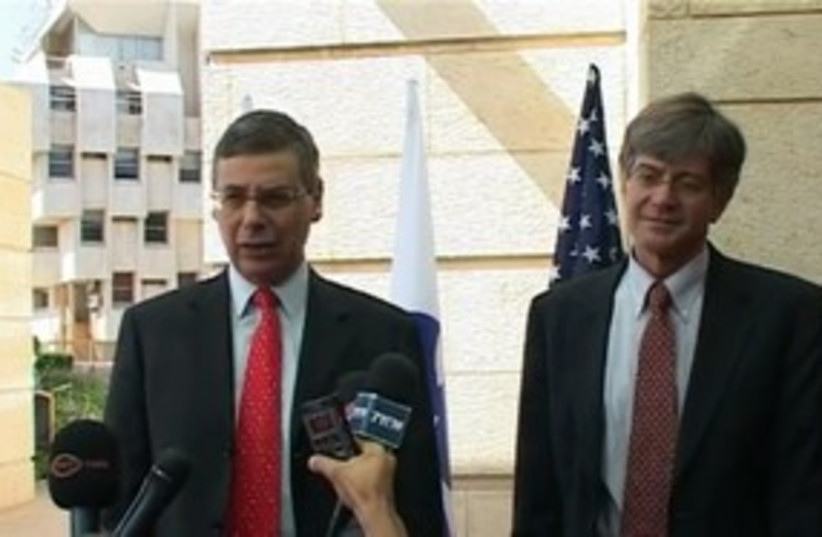 US Dept. Sec. of State Jim Steinberg with Danny Ayalon 311 (photo credit: Foreign Ministry)