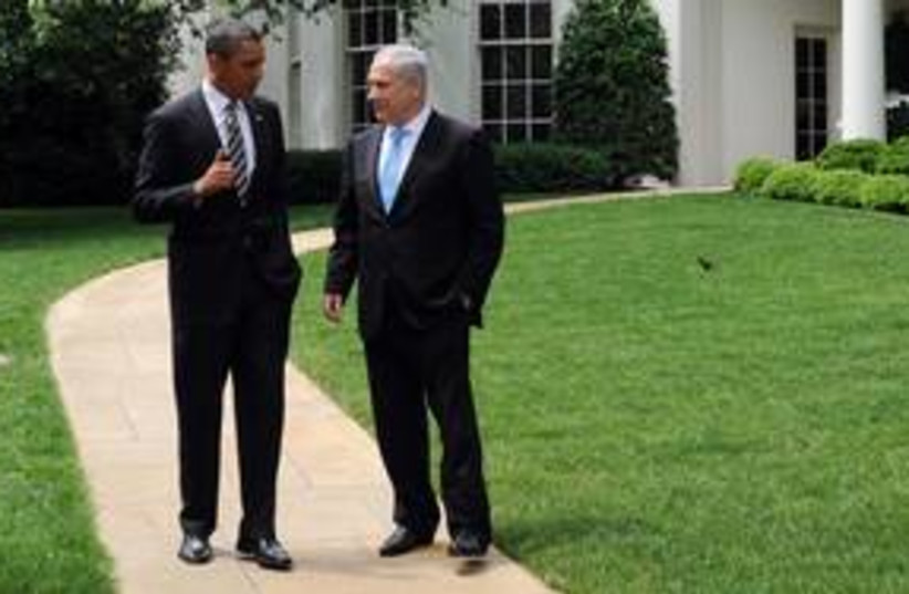 Netanyahu meets with Obama at White House_311 (photo credit: GPO)