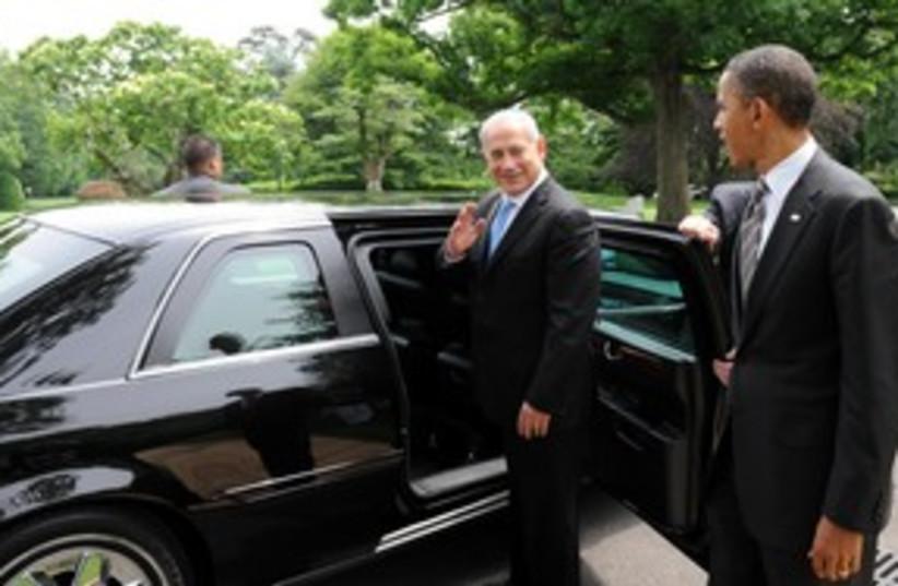 PM Netanyahu saying bye to US President Obama 311 (photo credit: Avi Ohayon / GPO)