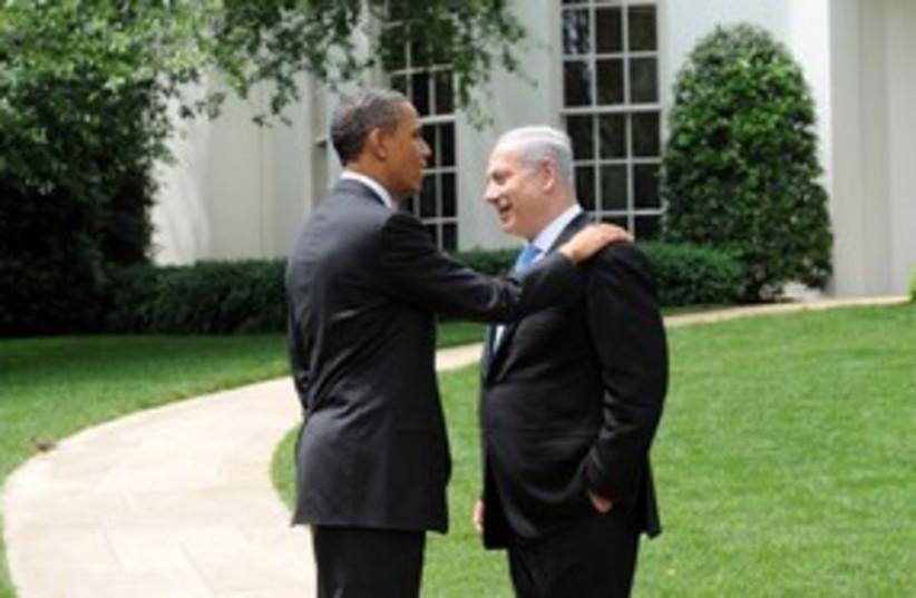 PM Netanyahu with US President Obama at White House 311 (photo credit: Avi Ohayon / GPO)