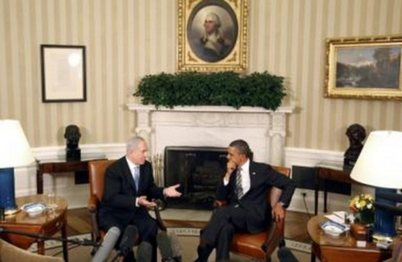 Obama meets with Netanyahu in the Oval Office