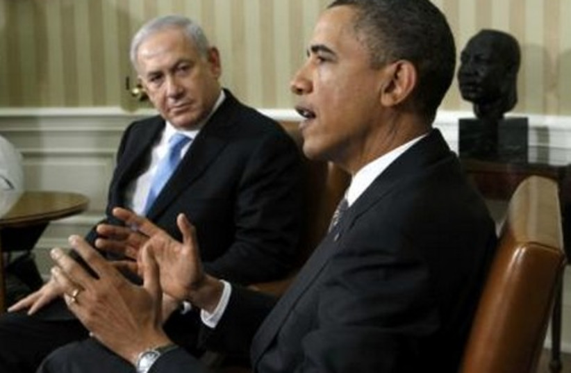 Obama, Netanyahu meeting in Washington GALLERY 465 (R) 2 (photo credit: REUTERS/Jim Young)