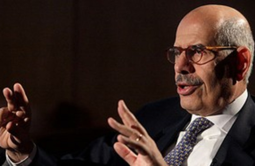 Mohamed ElBaradei 311 (R) (photo credit: Reuters)