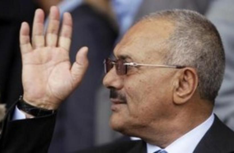 Yemen's President Ali Abdullah Saleh 311  (R) (photo credit: REUTERS/Ammar Awad)