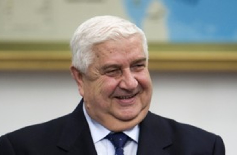 Syria's Walid Moallem 311 (photo credit: REUTERS)