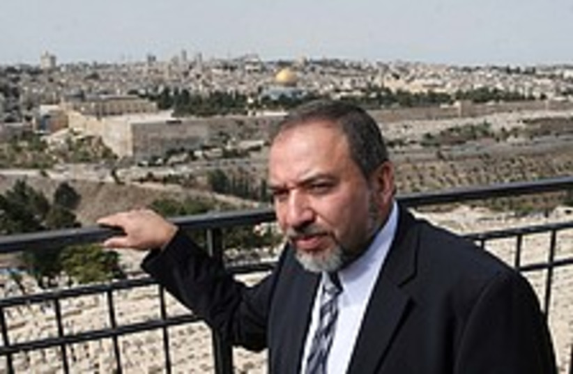 Lieberman Jerusalem 224. (photo credit: Ariel Jerozolimski [file])