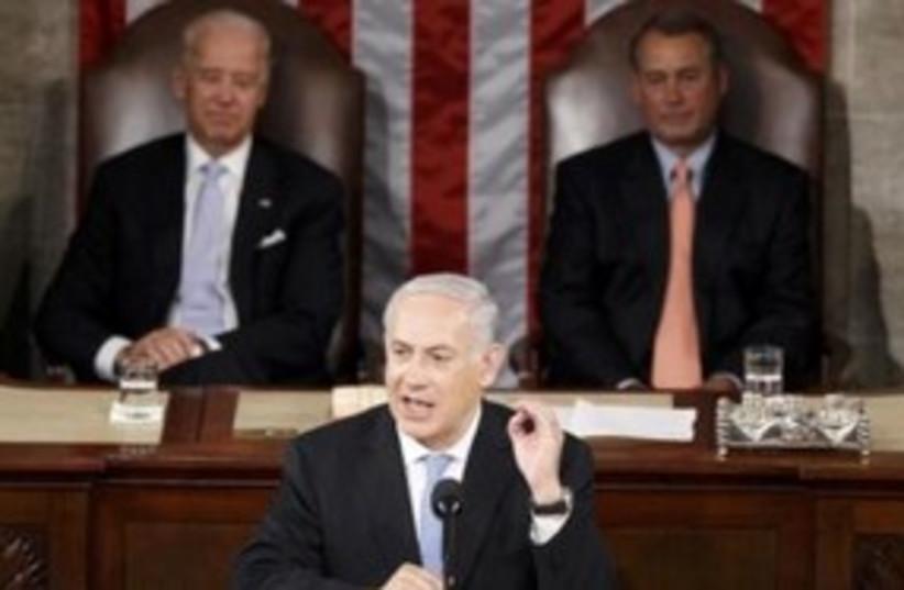 PM Netanyahu addresses Congress 311 (R) (photo credit: Reuters)