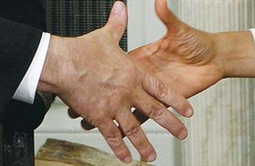 Obama Bibi Handshake 311 (photo credit: REUTERS)
