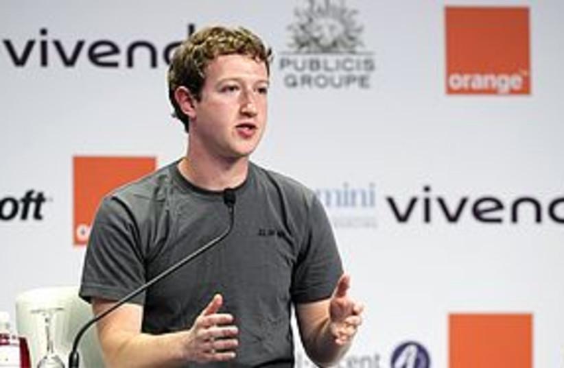 Mark Zuckerberg at eG8 311 (photo credit: REUTERS)