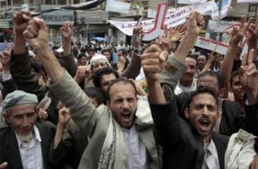 Yemen Anger 311 (photo credit: REUTERS)