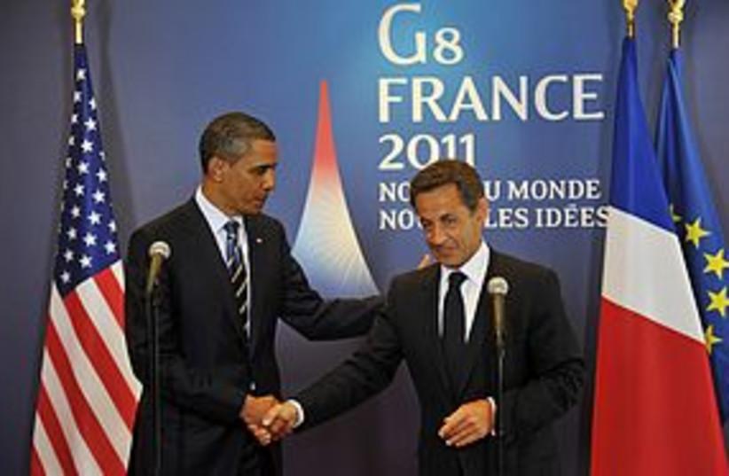 g8 obama sarkozy 311 (photo credit: REUTERS)