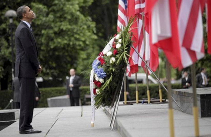 Obama at wreath-laying ceremony