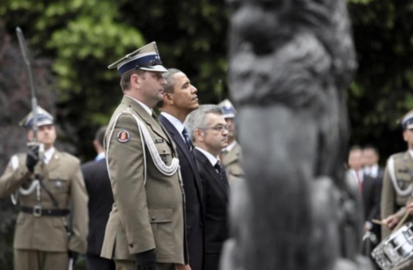 Obama at ceremony in Warsaw
