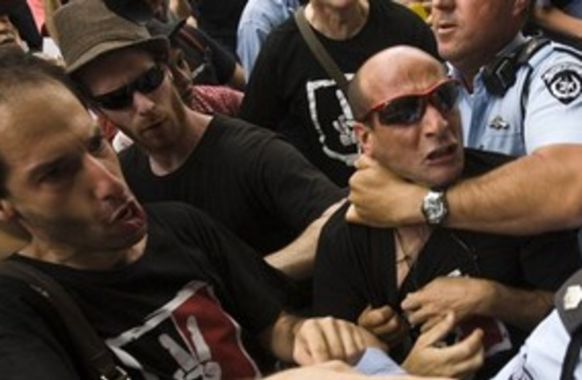 Jerusalem left-wing protest_311 (photo credit: Reuters)