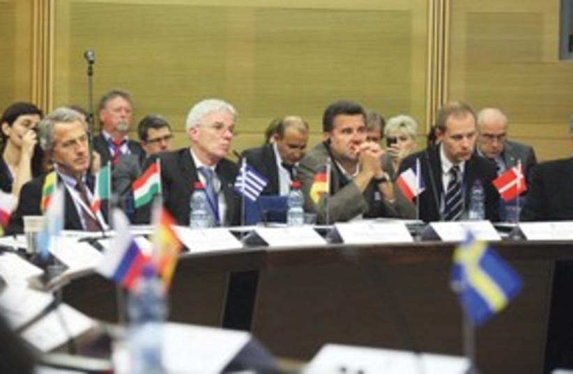 European scientists meet at the Knesset 311 (photo credit: Marc Sellem Israel/The Jerusalem Post)