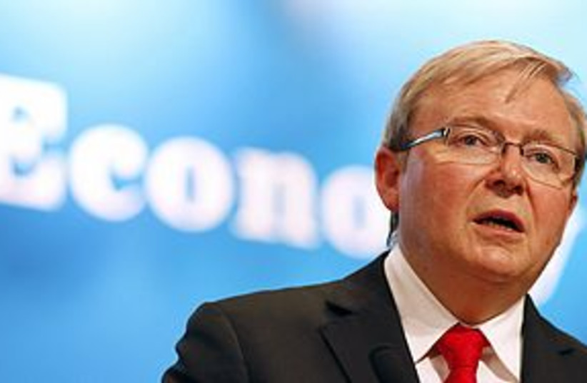 Kevin Rudd 311 (photo credit: REUTERS)