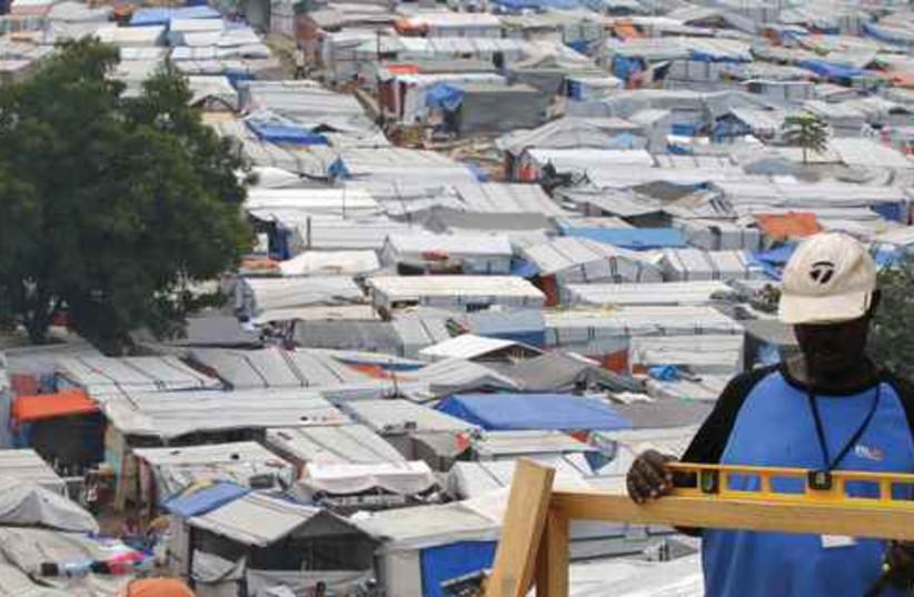1.6 million Haitians live in make-shift camps (photo credit: REUTERS)