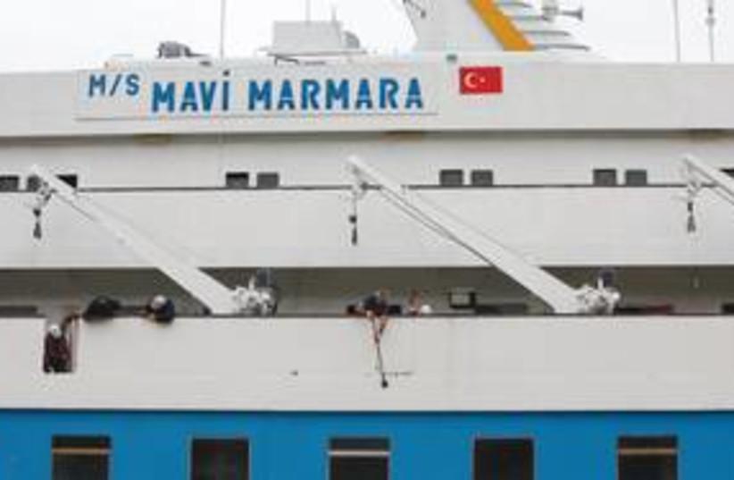 Mavi Marmara in port 311 (R) (photo credit: Reuters)