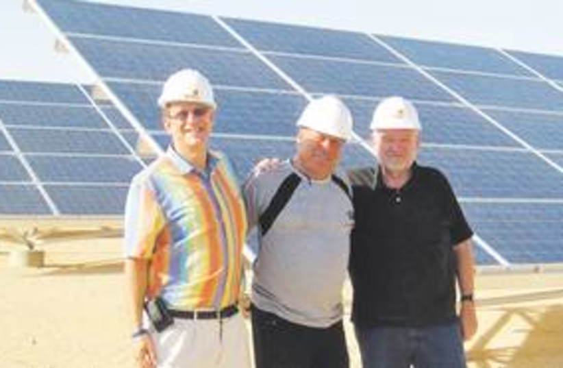 Solar power 311 (photo credit: Sharon Udasin)