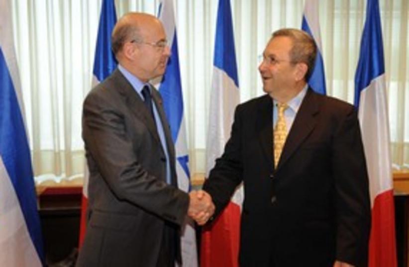 Barak and Juppe_311 (photo credit: Inbal Greener / Defense Ministry)