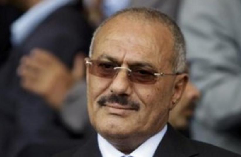 Yemen President Ali Abdullah Saleh 311 (R) (photo credit: REUTERS)