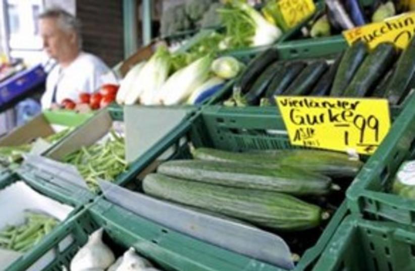 German cucumbers E.coli (photo credit: REUTERS/Fabian Bimmer)
