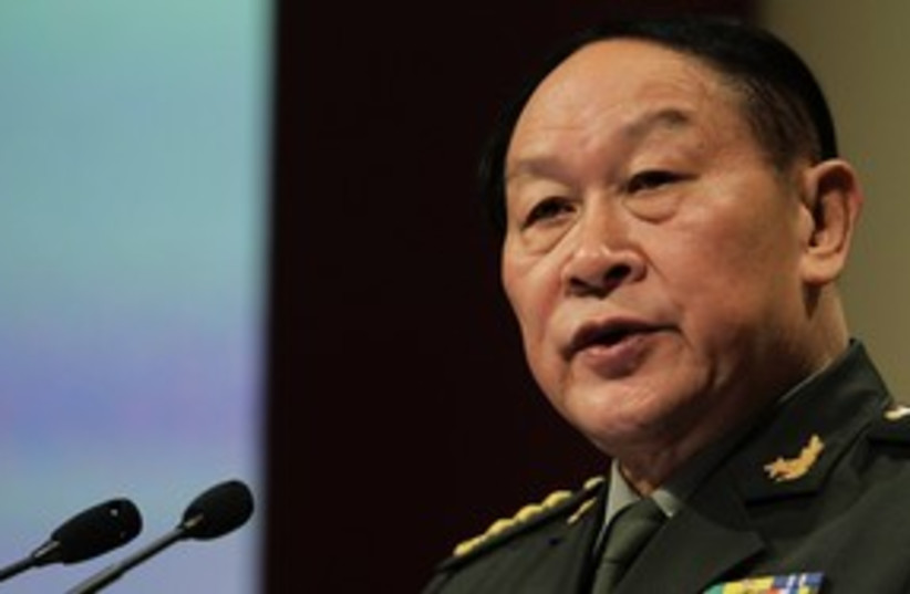 Chinese Defense Minister Liang Guanglie 311 R (photo credit: Reuters)