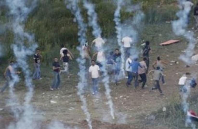 Naksa Tear Gas 311 (photo credit: REUTERS)