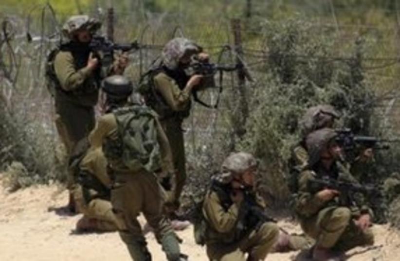 IDF soldiers at Syrian border Naksa Day 311 (R) (photo credit: Reuters)