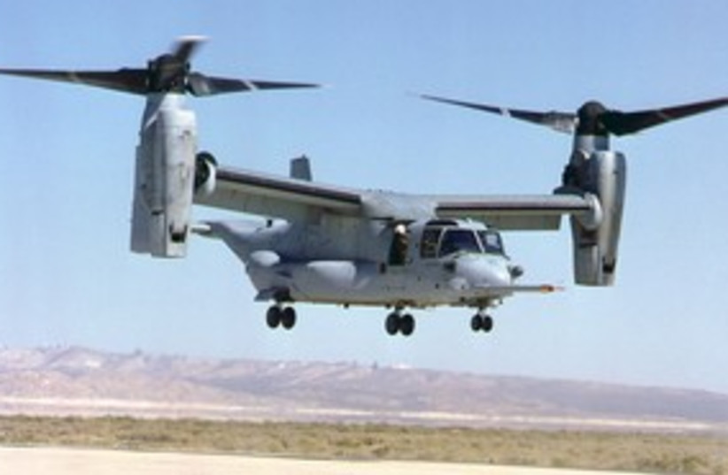 V22 Osprey helicopter 311 (photo credit: Courtesy US Air Force)