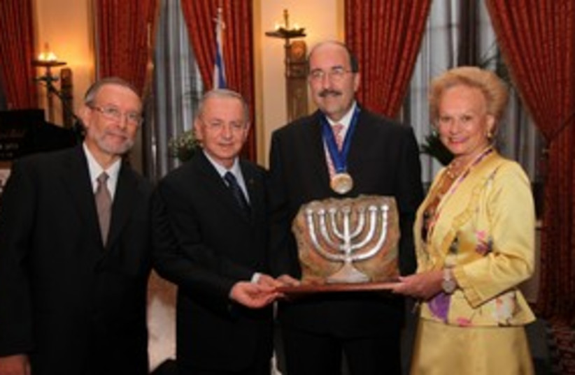 Dore Gold Guardian of Zion award 311 (photo credit: Marc Israel Sellem)