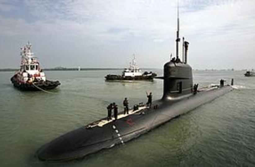 Submarine 311 (photo credit: REUTERS)