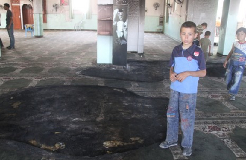 Mosque hit in price tag attack
