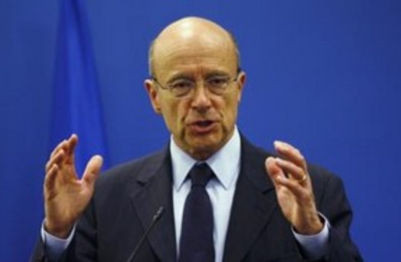 French Foreign Minister Alain Juppe 311 (R) (photo credit: REUTERS/Mohamad Torokman)