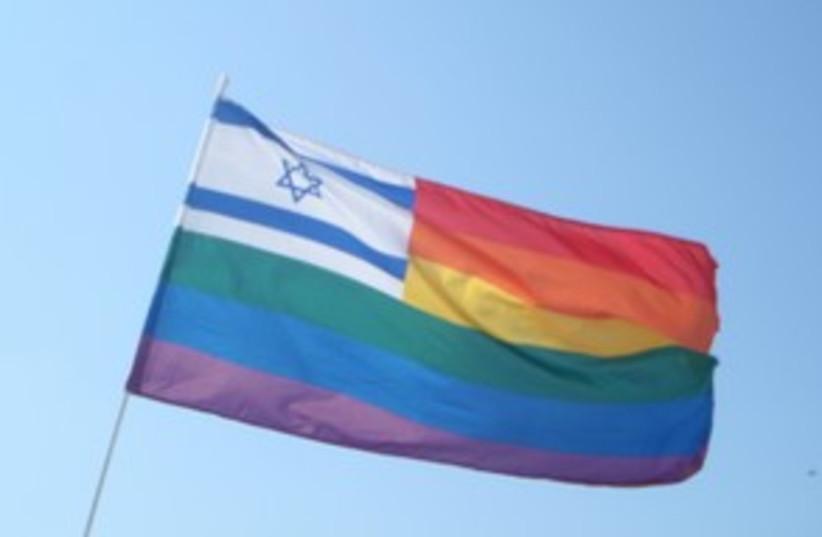 Gay pride flag 311 (photo credit: Yoni Cohen)