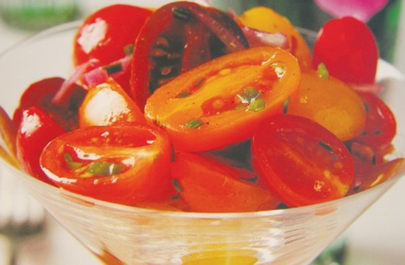 "Basil tomato cup 521 (photo credit: Shiran Carmel ""Kosher Elegance"")"