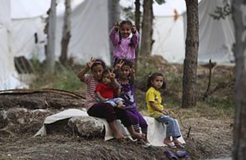 Syrian refugee children in Turkey 311 (photo credit: REUTERS)