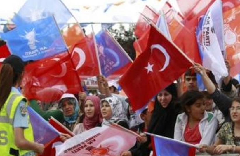 Tayyip Erdogan supporters 465 (photo credit: REUTERS/Murad Sezer)