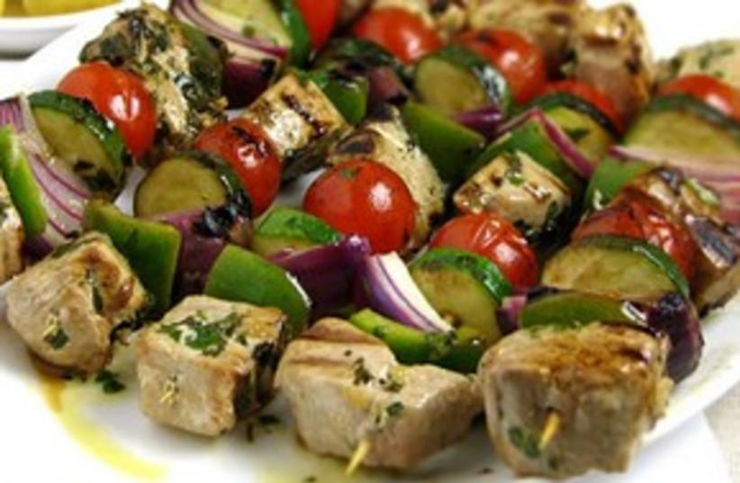 Tuna skewers (photo credit: mediterrasian.com)