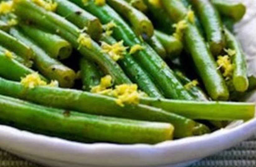 Lemony green beans recipe 311 (photo credit: mediterrasian.com)