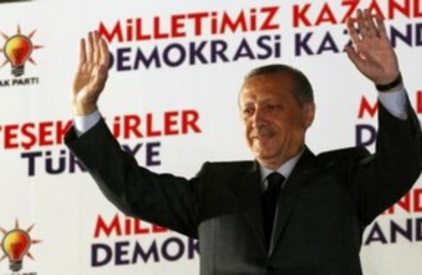Erdogan wins 311 (photo credit: REUTERS)