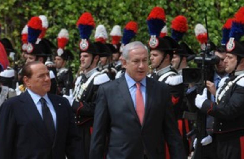 PM Binyamin Netanyahu and PM Berlusconi 311 (photo credit: Amos Ben-Gershom/GPO)