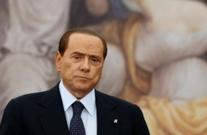 Italian Prime Minister Silvio Berlusconi 311 (R) (photo credit: REUTERS/Stefano Rellandini)
